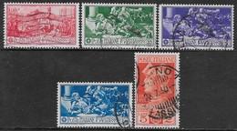 Italia Italy 1930 Regno Francesco Ferrucci Sa N.276-280 Completa US - Usati