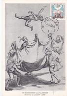 CM Op Signoorken Par Jos Hunan - Gravure Au Pointillé - Figure Populaire De L'Ommegang De Malines- Timbre N° 1040 - 1958 - Cartes-maximum (CM)