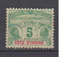 COTE D'IVOIRE                N° YVERT  :   TAXE 1   NEUF SANS GOMME        ( SG     1/21  ) - Côte-d'Ivoire (1892-1944)
