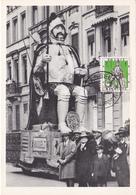 CM - LANGEMAN Géant D'Hasselt - Timbre N° 1042 - Cachet Helipost -  1958 - Cartes-maximum (CM)