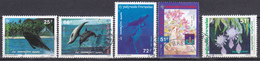 Polynésie Mamifères Marins Hong Kong 94 Flore La Belle De Nuit N°450 à 452-453-462 Oblitéré - Polynésie Française