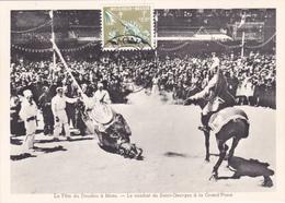 CM - La Fête Du DOUDOU à Mons - Le Combat De Saint-Georges à La Grand'Place - Timbre N° 1115 - 1960 - Cartes-maximum (CM)