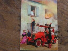 POMPIERS  AUTO POMPE LAFFLY  COMMUNE DE MARVILLE - Sapeurs-Pompiers