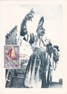 CM - Ypres - La Fête Des Chats - Timbre N° 1118 - 1960 - Cartes-maximum (CM)