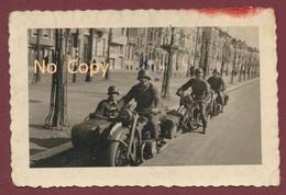 Anvers Antwerpen Belgique : Photo 9 Cm X 6 Cm - Moto-Ecole Armée Allemande Fahrschule: Side-car Et Motos  Guerre 39 - 45 - Antwerpen