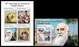 S. TOME & PRINCIPE 2018 - Camille Pissarro (Small). M/S + S/S Official Issue - Sao Tome Et Principe