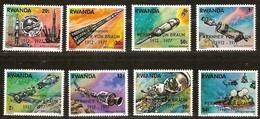 Rwanda Ruanda 1977 Yvertn°  838-845  *** MNH Cote 8,00 Euro  Wernher Von Braun - Rwanda