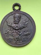 Médaille En Bronze De L'assassina De Sadi-Carnot - Bronzes