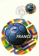 Carte Maximum COUPE DU MONDE DE FOOTBALL PARIS  1e Jour 29 02 1998 RV - Football