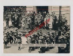 LONDON-Retour Troupes AUSTRALIENNES-Guerre 14-18-1WK-Grosse PHOTO Allemande-N.V.E. - Guerre 1914-18