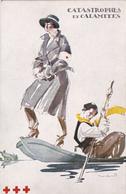 CPA Croix-Rouge De Belgique - Catastrophes Et Calamités - Illustration Signée De A. Massonet - Croix-Rouge