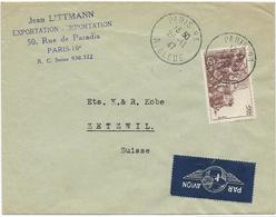 LETTRE PAR AVION POUR LA SUISSE 1947 AVEC TIMBRE A 15 FR ROC AMADOUR - Postmark Collection (Covers)