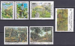 Polynésie Oiseaux Peintres Bocage Foret N°479-480-495-497-499-500 Oblitéré - Polynésie Française