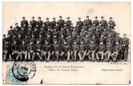PARIS 1904 =  CPA  ' MUSIQUE GARDE REPUBLICAINE / PARES CHEF ' - Police - Gendarmerie