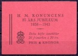 ZWEDEN 1943 Postzegelboekje H 65 Gustaf 85 JaarPF-MNH - 1904-50