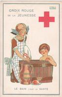 CPA Croix-Rouge De La Jeunesse - Le Bain C'est La Santé  - Illustration Signée De Maggie Salzedo - Croix-Rouge