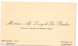 Visitekaartje - Carte Visite - Handel In Vis - Madame Alf.Lowyck - De Backer - Oostende - Brugge - Cartes De Visite