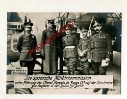 Commission Militaire ESPAGNOLE-BERLIN-Guerre 14-18-1WK-Grosse CP PHOTO Allemande-Paul HOFFMANN- - Guerre 1914-18