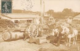CARTE-PHOTO- USINE DE BOIS-  A SITUER - Industrie