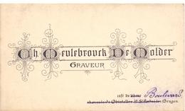 Visitekaartje - Carte Visite - Graveur Ch. Meulebrouck - De Molder - Bruges - Brugge - Visiting Cards