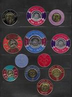 Lot Divers Timbres Neufs Or Et Argent De Forme Circulaire A Determine - Stamps