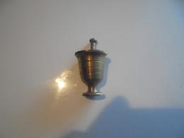 Miniature Mortier Et Pillon En Laiton - Cuivres