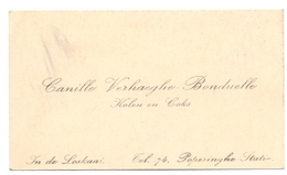 Visitekaartje - Carte Visite - Kolen - Canille Verhaeghe - Bonduelle - Poperinge Statie - Cartes De Visite