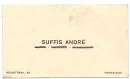 Visitekaartje - Carte Visite - Suffis André - Poperinge - Visitenkarten