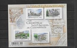 Bloc Neuf Xx Non Dentelé Chemins De St Jacques De Compostelle - Varieties: 2010-.. Mint/hinged