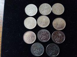 Lot De11 Pieces- 5 Francs 1995 En TTB - France