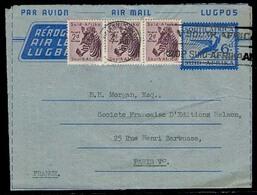 SOUTH AFRICA. 1956. Johanesburg - France. Air Lettersheet Stat + 3 Adtls Gyrafes. Nice Cond. - Afrique Du Sud (1961-...)
