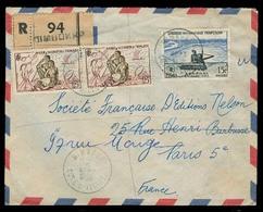FRC - Ivory Coast. 1958 (15 Sept). Dinbokro - France. Reg Air Multifkd Env Locals 65fr Rate. Fine. - France (ex-colonies & Protectorats)