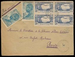 FRC - Ivory Coast. 1946 (6 April). Bingerville - France.a Ir Multifkd Env / Block Of Four. VF. - France (ex-colonies & Protectorats)