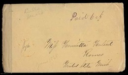 CANADA. 1868 (June). Wallace Town / CW - USA / Mi / Romeo. Stampless Env + Contains / Paid 6 Cts Mns. - Canada