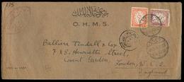 EGYPT. 1940. Orman - UK. OHMS Fkd Env + Censored. - Égypte
