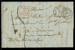 EGYPT. 1844 (27 Sept). Alexandrie - France. EL Full Contains Dissinfection Slits + Purifie Malta + Red Boxed Pqbt Medite - Égypte
