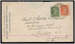 CANADA. 1893. Toronto - UK. Fkd Env. Comercial VF. - Canada