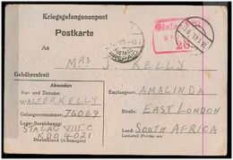 SOUTH AFRICA. 1945 (18 Jan). British POW In Germany To East London Card. - Afrique Du Sud (1961-...)