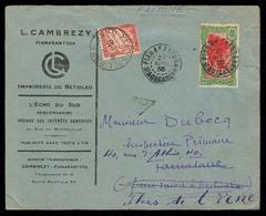 FRC - Madagascar. 1935 (27 April). Fianarantsoa - Tamatane - France. Ilustr Fkd Internal Env + French P Due / Tied Cds + - France (ex-colonies & Protectorats)