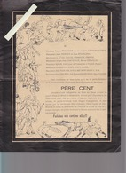 Militaire / Faire-part Humoristique / Déces Père Cent / 2 Documents / St-Raphael, St-Zano, Père Nod, On Se Noircira à La - Décès