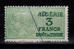 Algerie - Fiscal Impot Du Timbre 3 Francs - Algérie (1924-1962)