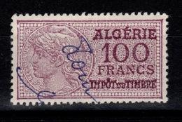 Algerie - Fiscal Impot Du Timbre 100 Francs - Algérie (1924-1962)