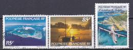 Polynésie Tourisme L Aviation Avions En Vol N°539-543-559 Oblitéré - Polynésie Française