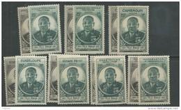 Grandes Séries Colonies Françaises : Gouverneur-général Félix Eboué 1945 XX, Les 26 Valeurs Sans Charnière, TB - 1945 Gouverneur-Général Félix Éboué