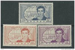 Soudan N° 100 / 02 XX Centenaire De La Mort De René Caillié, La Série Des 3  Valeurs Sans Charnière (gomme Brillante) TB - Soudan (1894-1902)