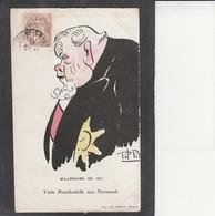Millénaire De  1911 -  Visite Présidentielle Aux Normands, Illustrateur Pol Pil - Illustrateurs & Photographes