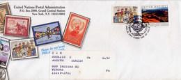 ONU - NAZIONI UNITE - FDC 1992  -  WORLD HERITAGE  UNESCO  - MAPPAMONDO - Geografia