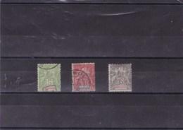 FRANCE  :  Indochine :Y&T :17 O à 19 O - Indochine (1889-1945)