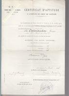 Guerre 14/18 - Instruction Militaire - Certificat Aptitude Emploi Chef De Section - Avril 1918 - Documentos Antiguos