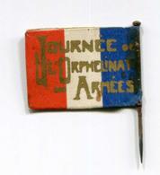 """WWI - Drapeau Carton De Poilu à épingler """"Journée De L'Orphelinat Des Armées"""" Flag WW1 - 1914-18"""